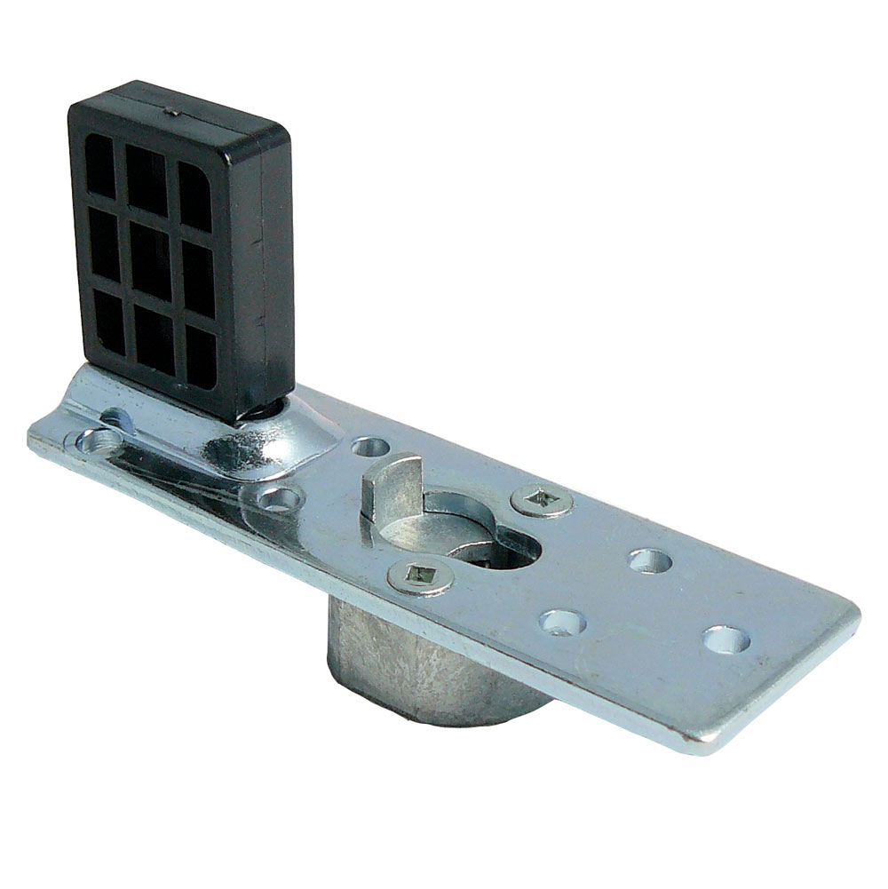 M6/M8 mounting plate with stop